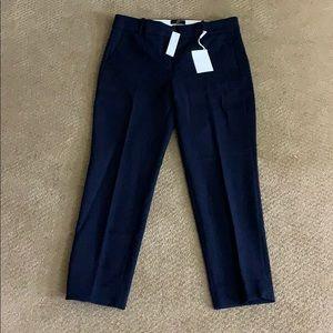 Brand new J Crew size 10 navy Cameron crop pants